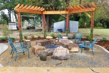 Pergola and fire pit