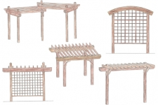 Pergolas and trellises
