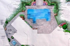 Pool landscaping master plan