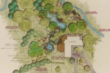 Back yard park landscape plan