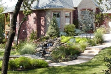 Landscaping and stream