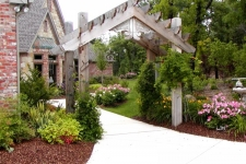 Entry pergola and landscaping