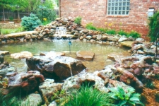Pond with waterfall